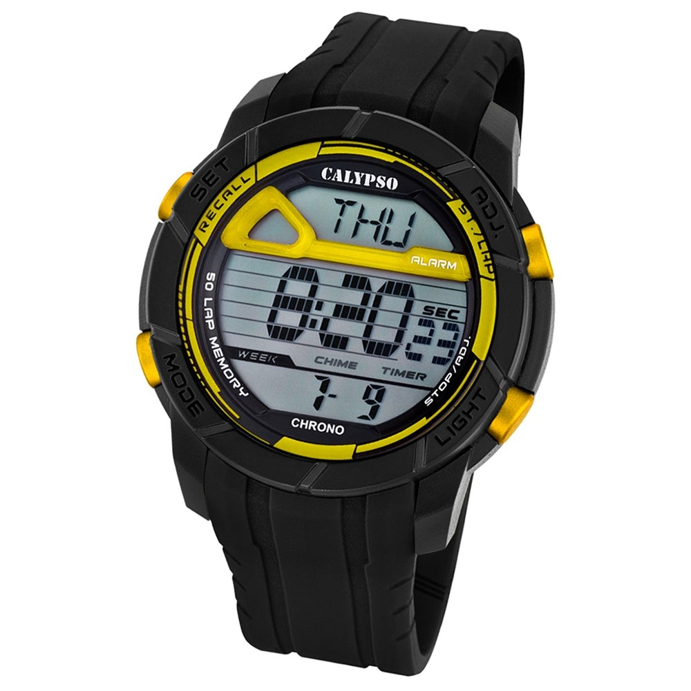 Calypso Herren-Armbanduhr Digital for Man digital Quarz PU schwarz UK5697/5