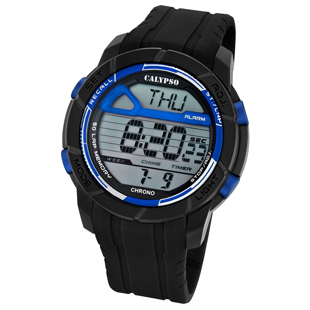 Calypso Herren-Armbanduhr Digital for Man digital Quarz PU schwarz UK5697/8