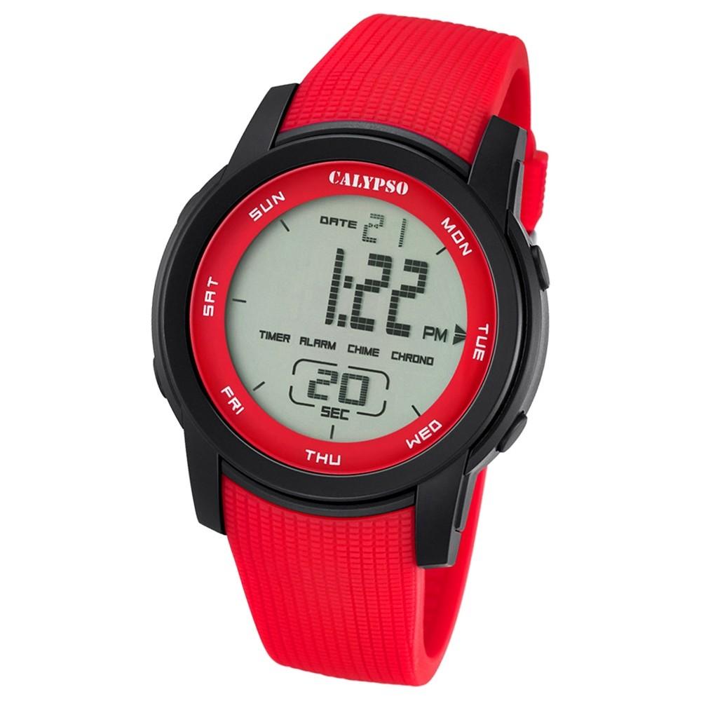Calypso Herren-Armbanduhr Digital for Man digital Quarz PU rot UK5698/3