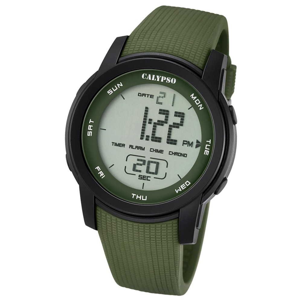 Calypso Herren-Armbanduhr Digital for Man digital Quarz PU grün UK5698/4