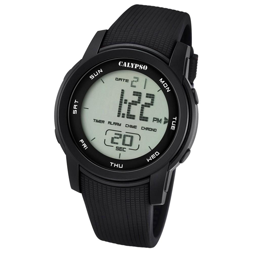 Calypso Herren-Armbanduhr Digital for Man digital Quarz PU schwarz UK5698/6