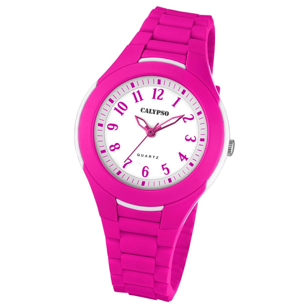 Calypso Damen-Armbanduhr Dame/Boy analog Quarz PU pink UK5700/4