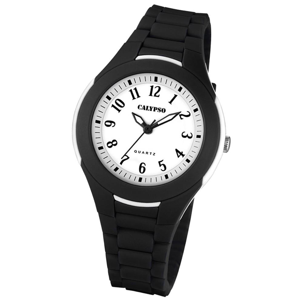 Calypso Damen Herren-Armbanduhr Dame/Boy analog Quarz PU schwarz UK5700/6