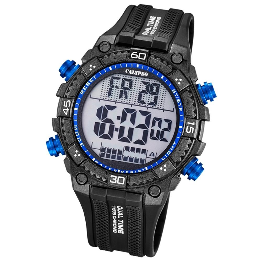 Calypso Herren-Armbanduhr Digital for Man digital Quarz PU schwarz UK5701/7