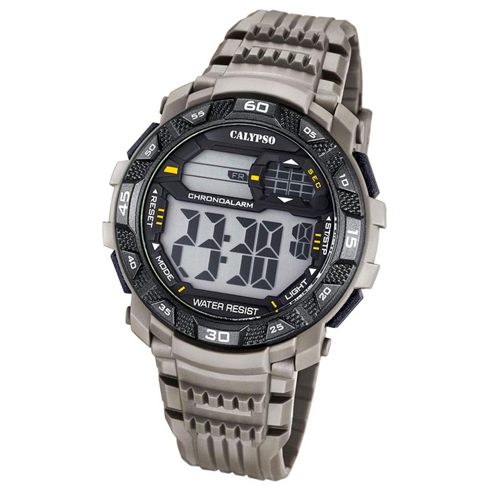 Calypso Herren-Armbanduhr Digital for Man digital Quarz PU grau UK5702/1