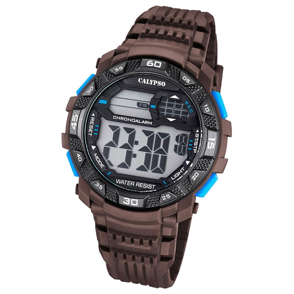 Calypso Herren-Armbanduhr Digital for Man digital Quarz PU braun UK5702/4