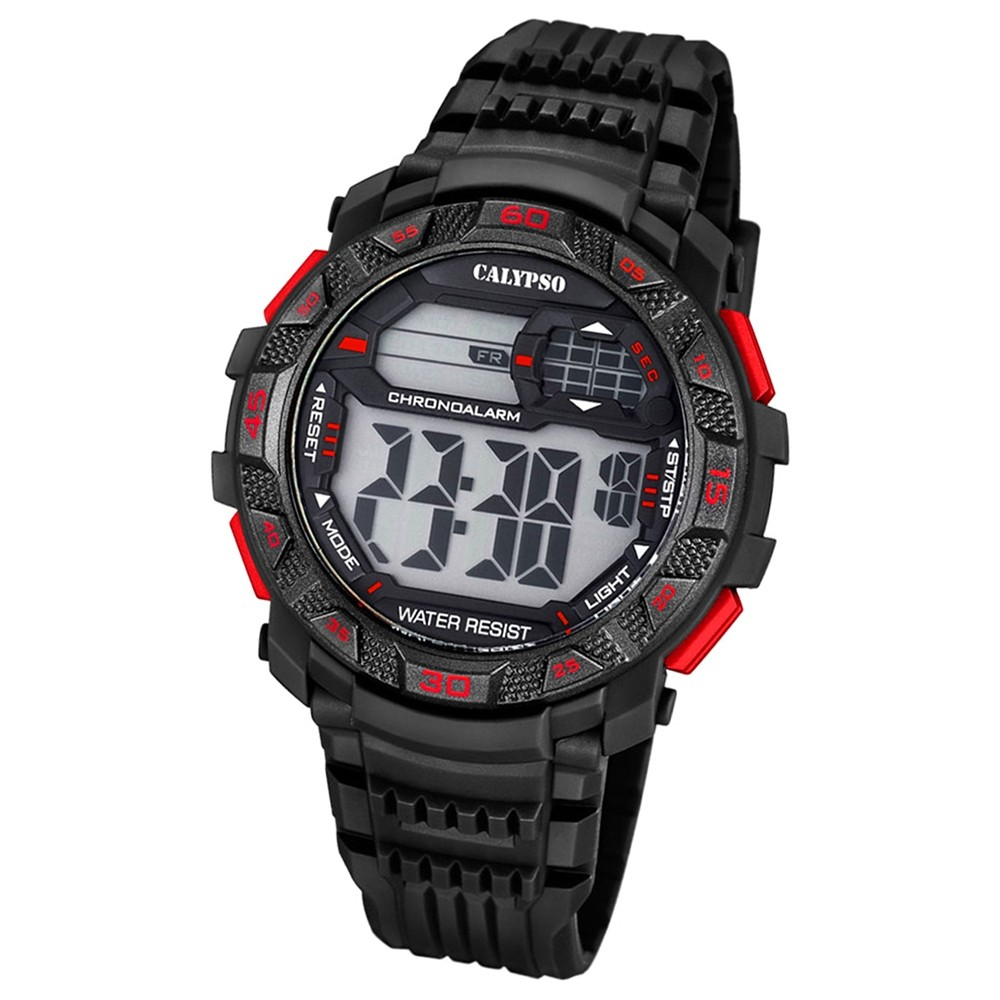 Calypso Herren-Armbanduhr Digital for Man digital Quarz PU schwarz UK5702/5
