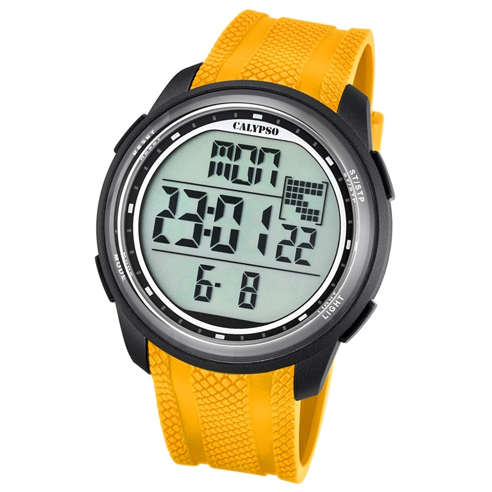 Calypso Herren-Armbanduhr Digital for Man digital Quarz PU gelb UK5704/1