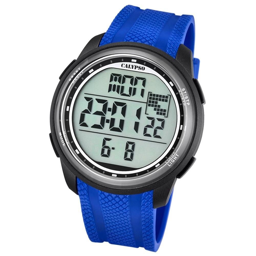 Calypso Herren-Armbanduhr Digital for Man digital Quarz PU blau UK5704/3