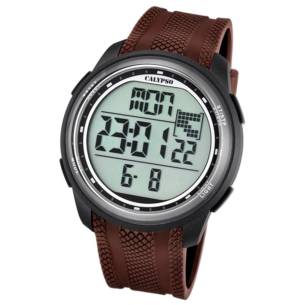 Calypso Herren-Armbanduhr Digital for Man digital Quarz PU braun UK5704/7