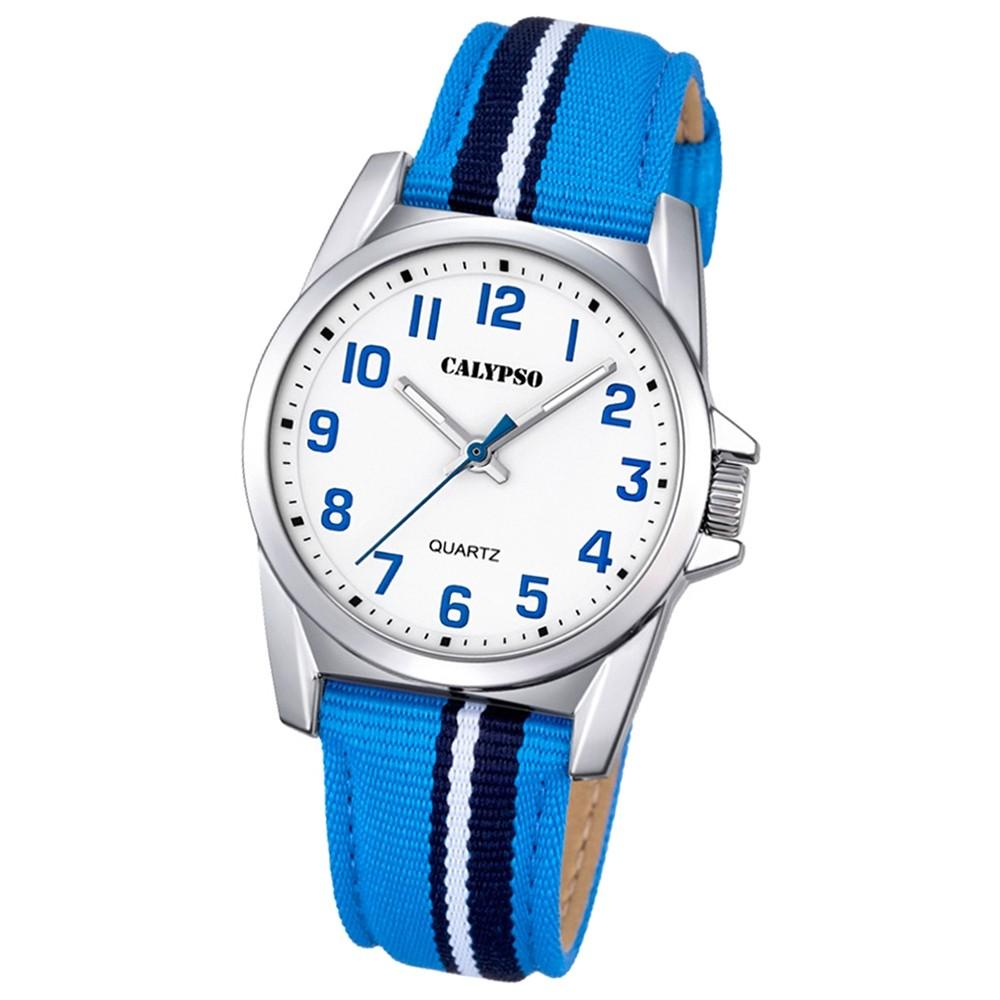 Calypso Kinder-Armbanduhr Junior Collection analog Quarz Leder blau UK5707/2