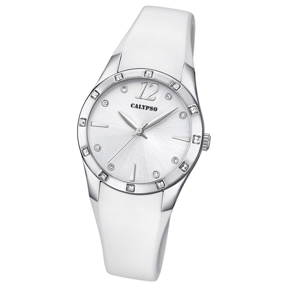 Calypso Armbanduhr Damen Trendy K5714/1 Quarzuhr PU weiß UK5714/1