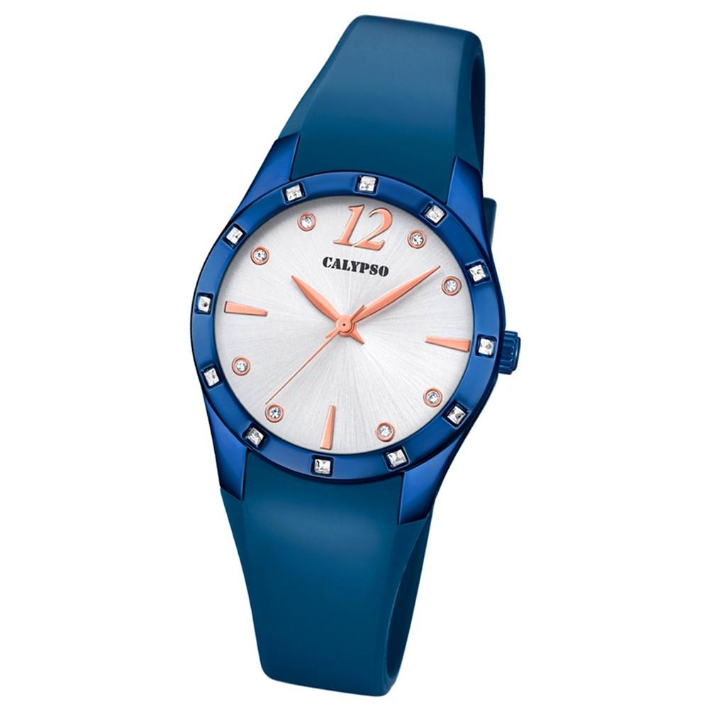 Calypso Armbanduhr Damen Trendy K5714/3 Quarzuhr PU blau UK5714/3