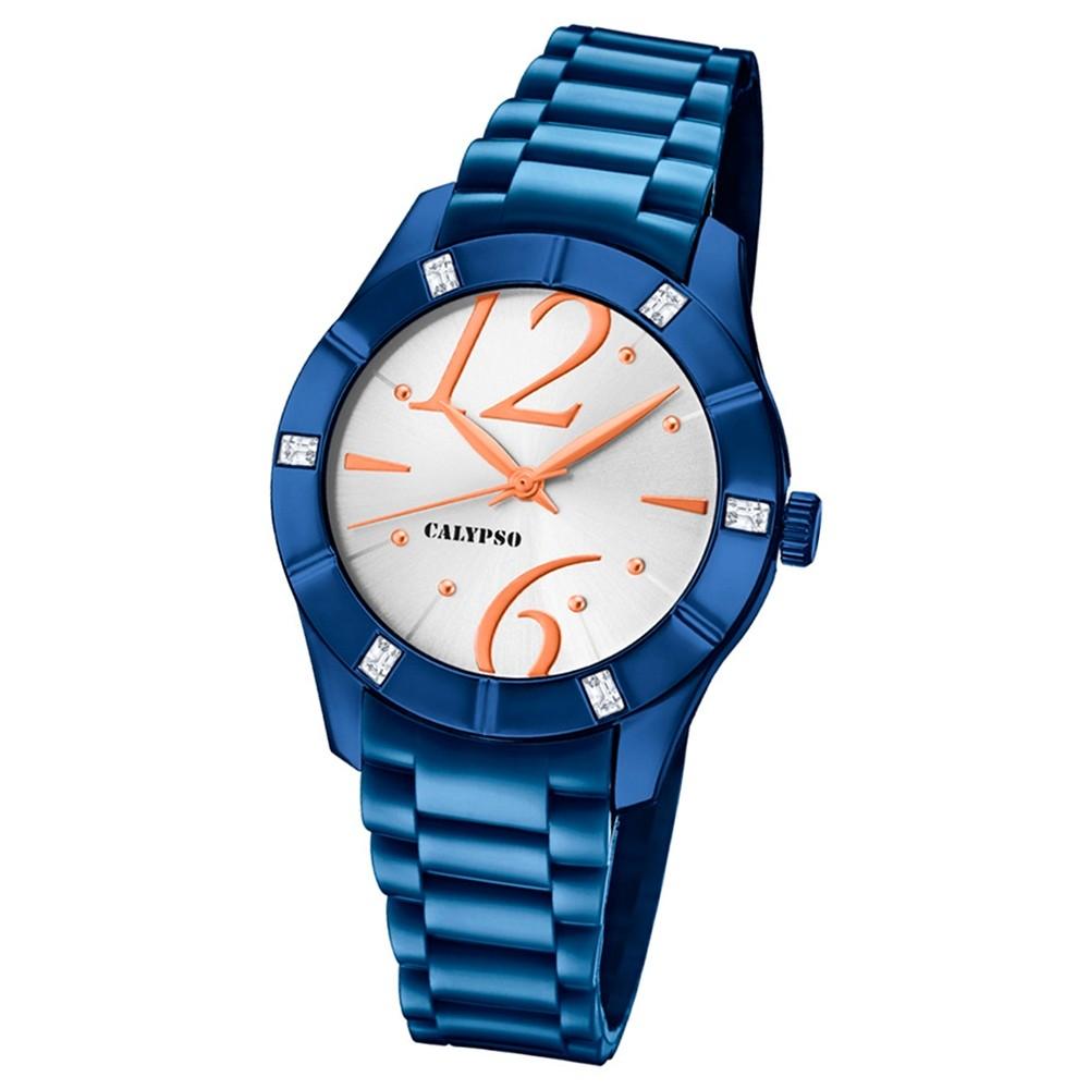 Calypso Armbanduhr Damen Trendy K5715/3 Quarzuhr PU blau UK5715/3
