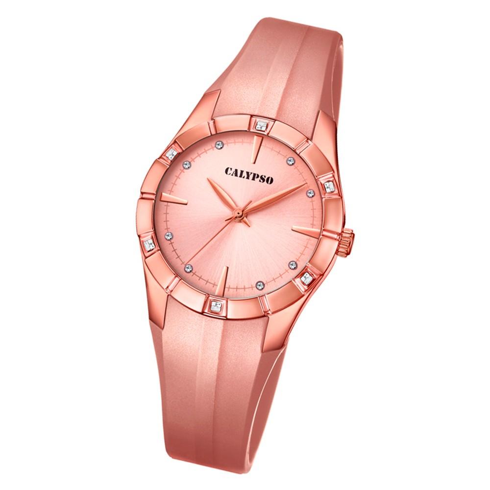 Calypso Damen Armbanduhr Trendy K5716/4 Quarz-Uhr PU roségold UK5716/4