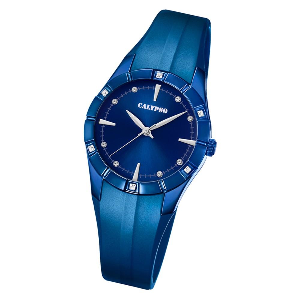 Calypso Damen Armbanduhr Trendy K5716/6 Quarz-Uhr PU blau UK5716/6