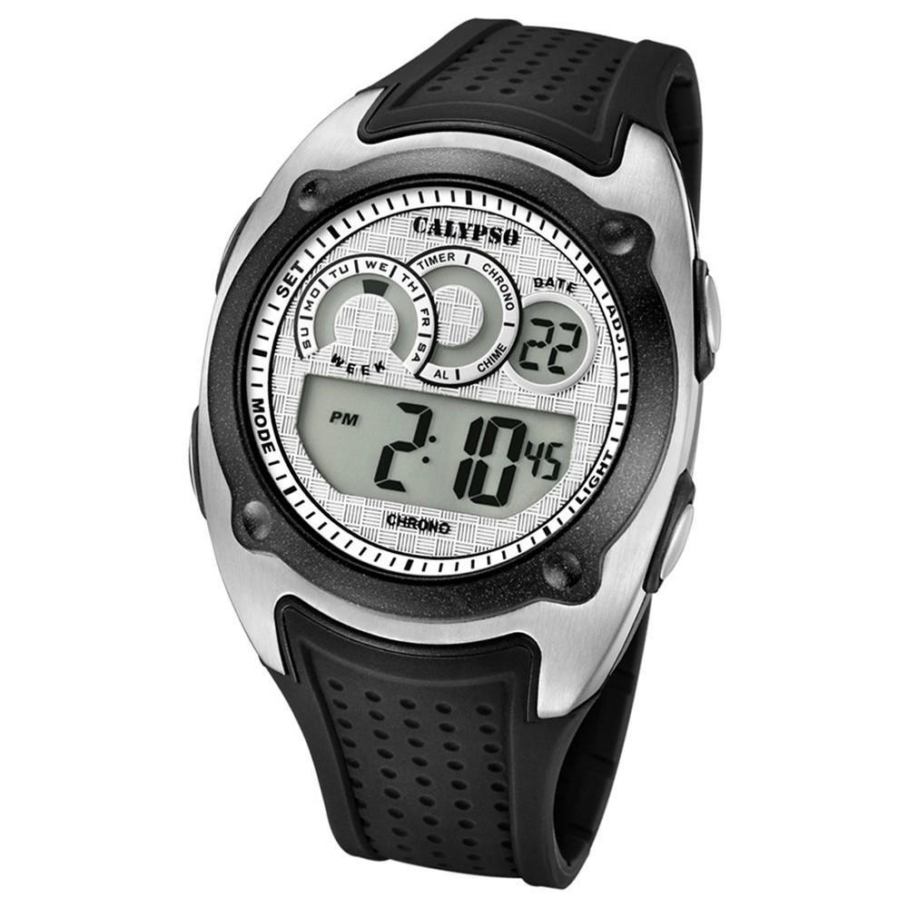 Calypso Armbanduhr Herren Digital for Man K5722/1 Quarzuhr PU schwarz UK5722/1