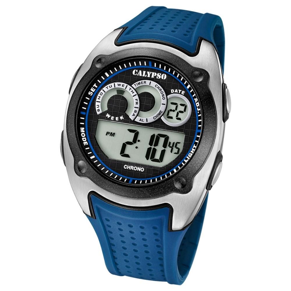 Calypso Armbanduhr Herren Digital for Man K5722/3 Quarzuhr PU blau UK5722/3