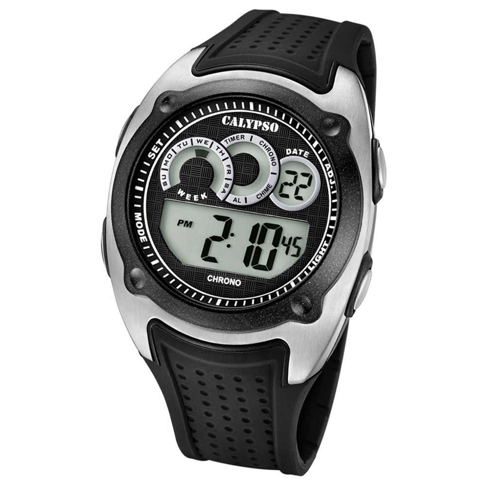 Calypso Armbanduhr Herren Digital for Man K5722/4 Quarzuhr PU schwarz UK5722/4