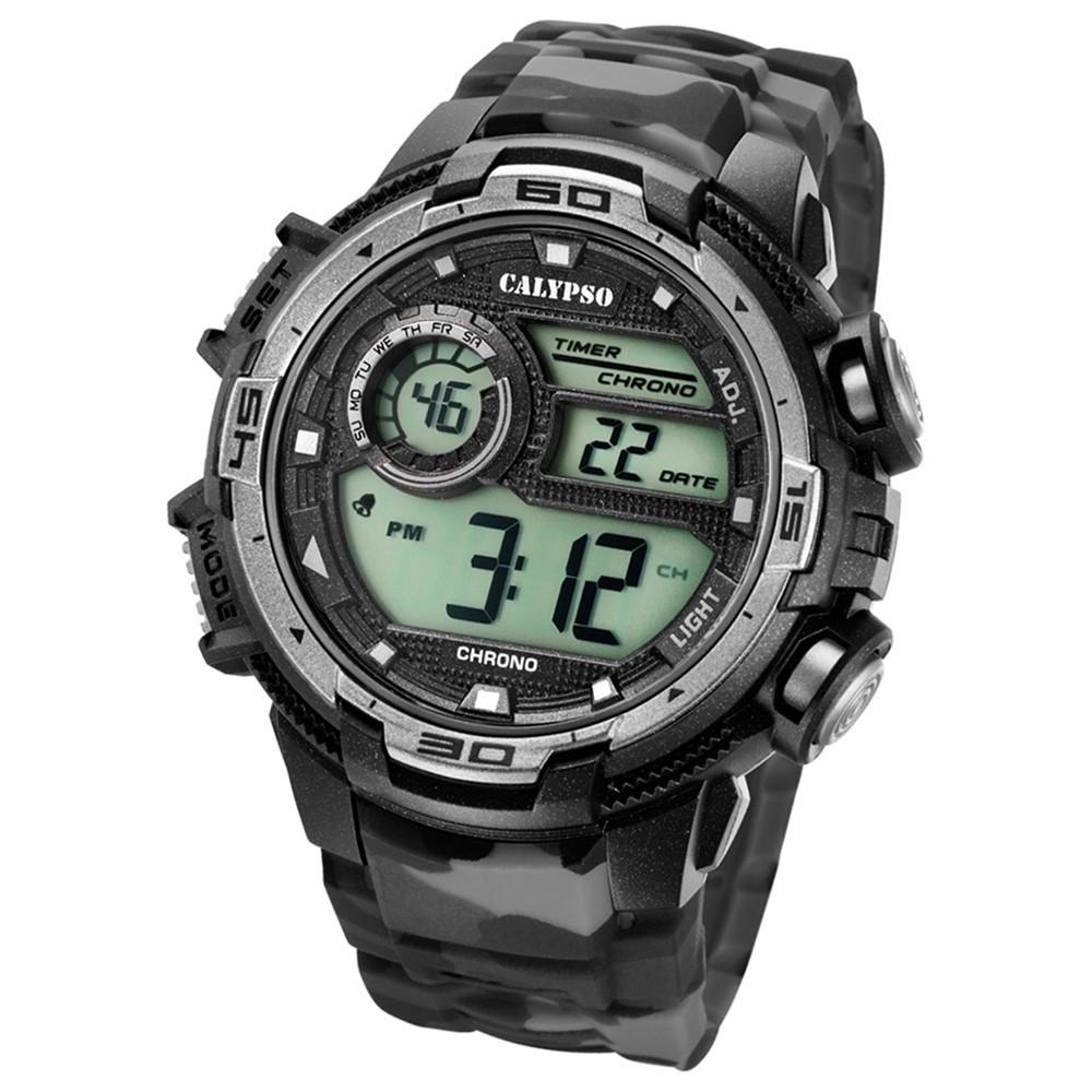Calypso Armbanduhr Herren Digital for Man K5723/3 Quarzuhr schwarz grau UK5723/3