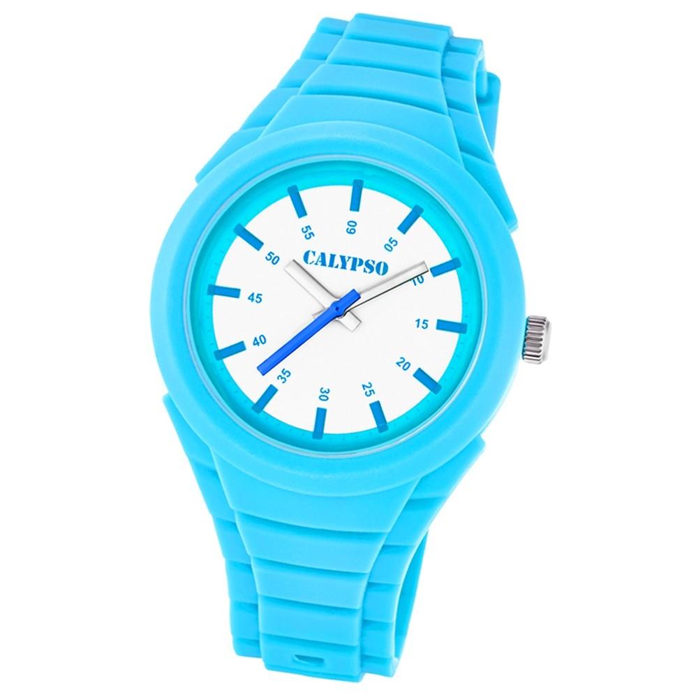 Calypso Damen-Armbanduhr Versatil for Woman analog Quarz PU hellblau UK5724/3