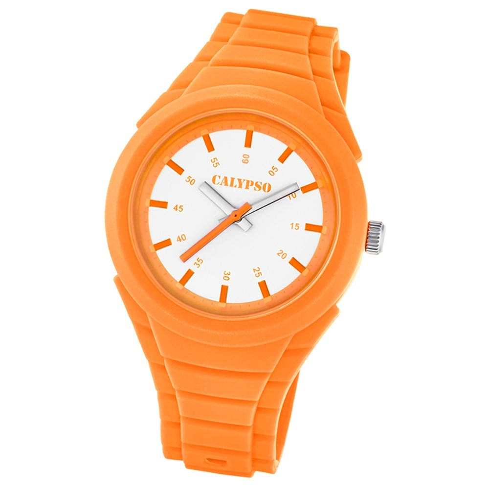 Calypso Damen-Armbanduhr Versatil for Woman analog Quarz PU orange UK5724/7