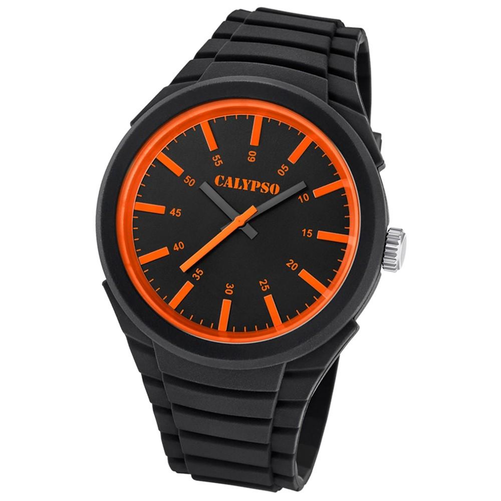 Calypso analoge Herren-Armbanduhr Versatil for Man Quarz PU schwarz UK5725/1