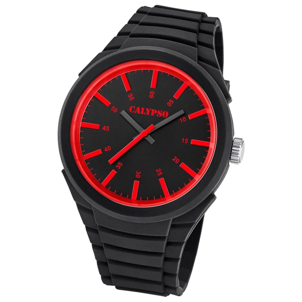 Calypso analoge Herren-Armbanduhr Versatil for Man Quarz PU schwarz UK5725/2