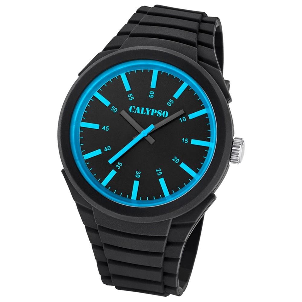 Calypso analoge Herren-Armbanduhr Versatil for Man Quarz PU schwarz UK5725/3