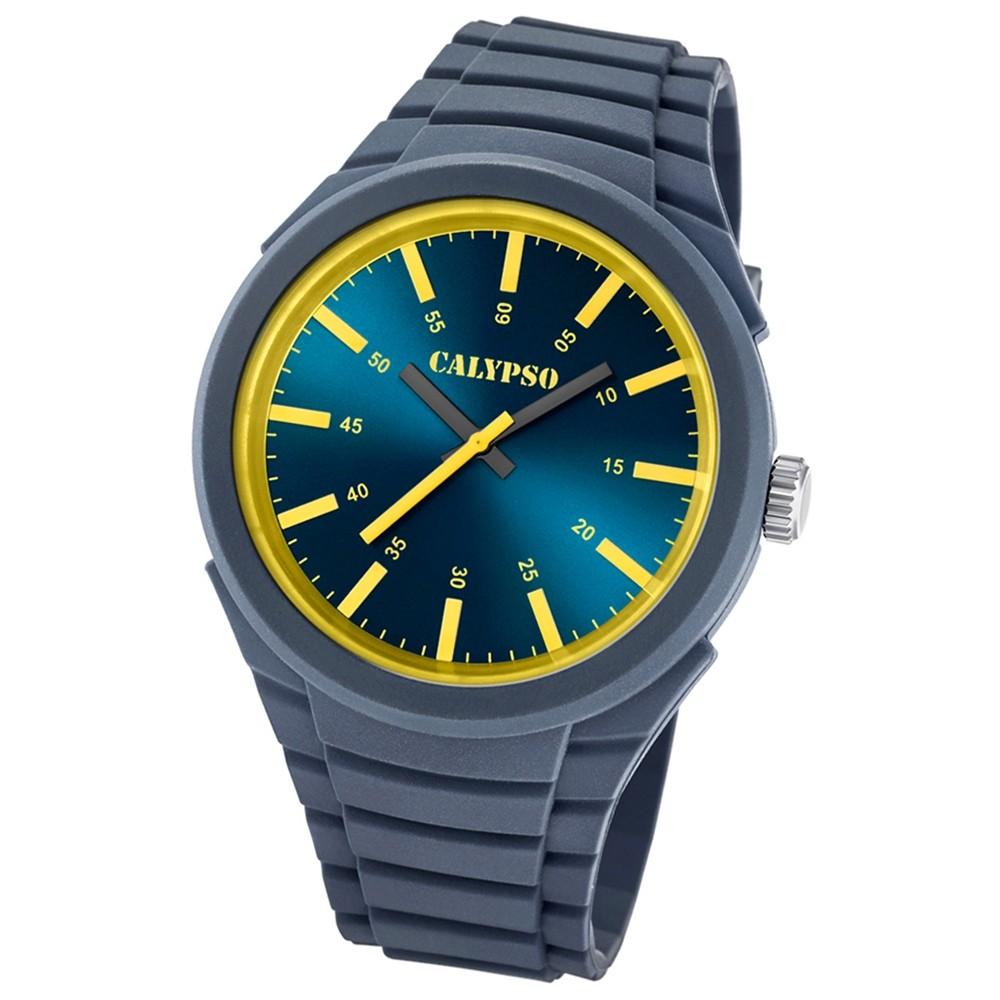 Calypso analoge Herren-Armbanduhr Versatil for Man Quarz PU grau UK5725/4