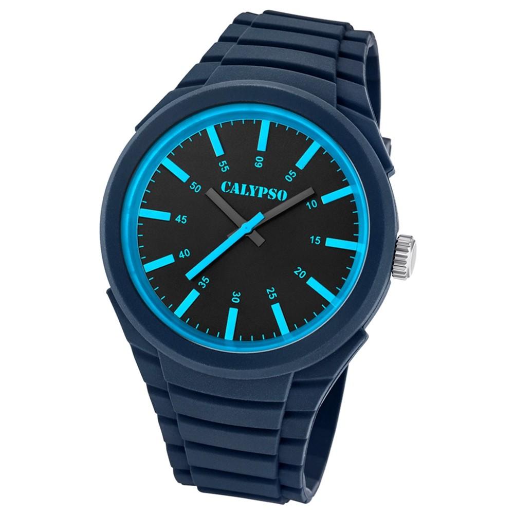 Calypso analoge Herren Quarzuhr Versatil for Man PU-Armband dunkelblau UK5725/6