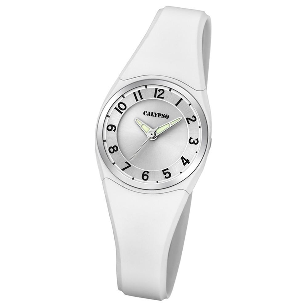 Calypso Armbanduhr Damen Herren Dame/Boy K5726/1 Quarzuhr PU weiß UK5726/1