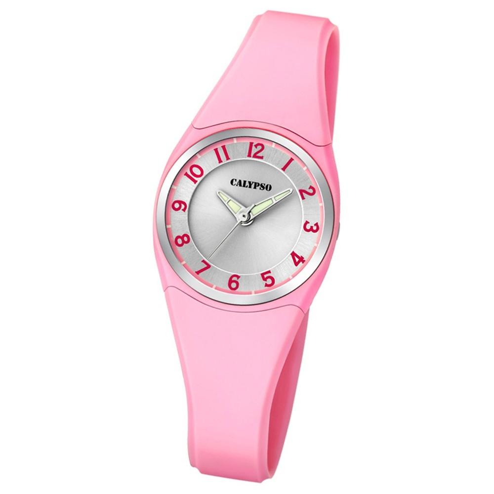 Calypso Armbanduhr Damen Herren Dame/Boy K5726/2 Quarzuhr PU hellrosa UK5726/2