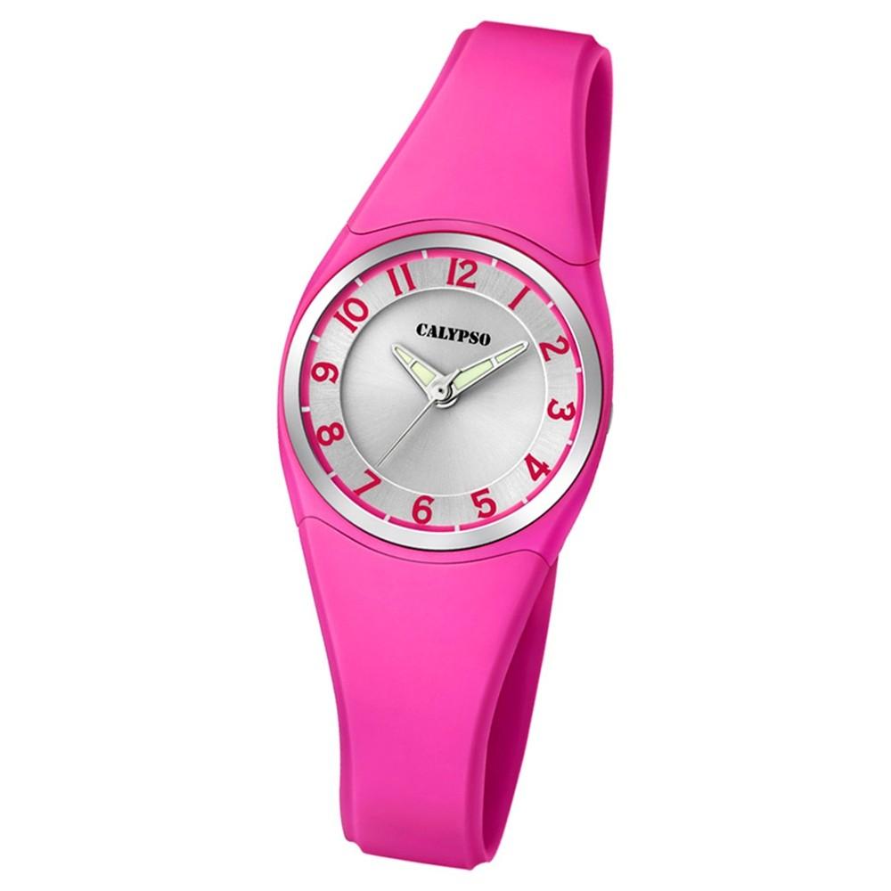 Calypso Armbanduhr Damen Herren Dame/Boy K5726/5 Quarzuhr PU rosa UK5726/5