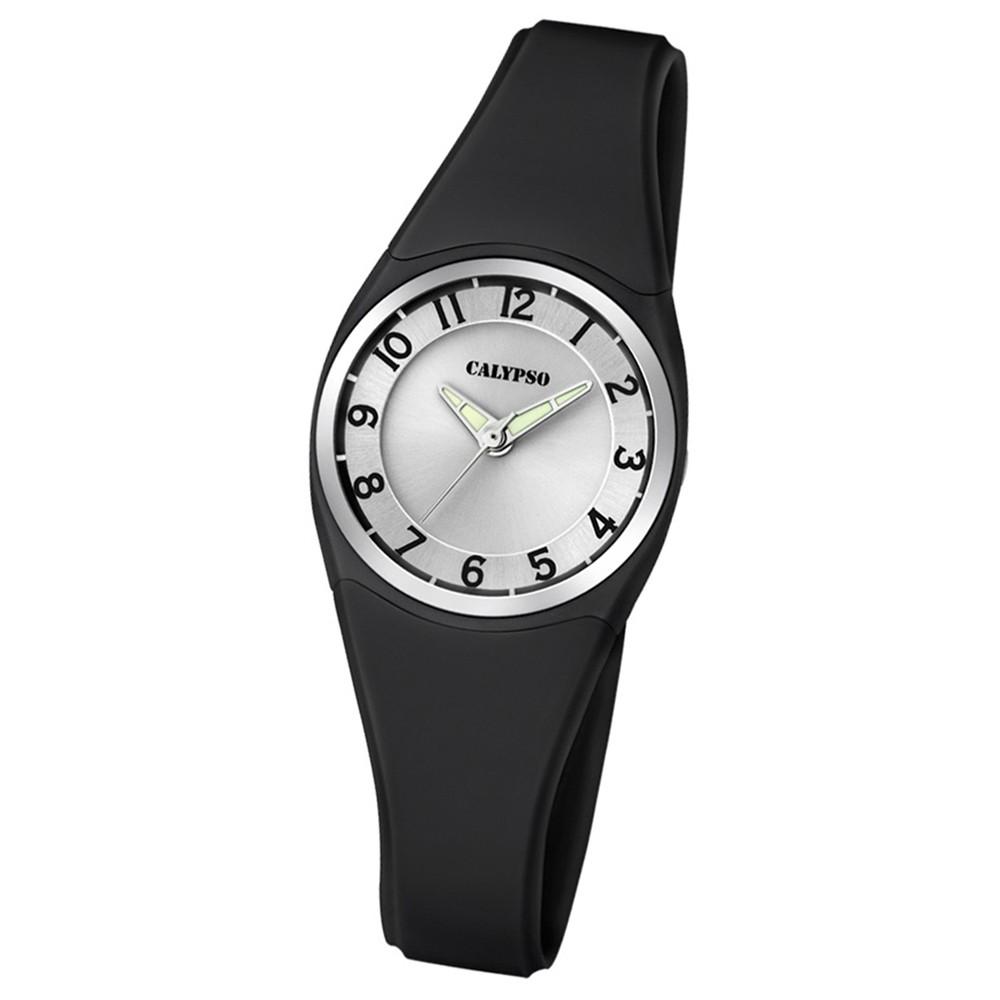 Calypso Armbanduhr Damen Herren Dame/Boy K5726/6 Quarzuhr PU schwarz UK5726/6