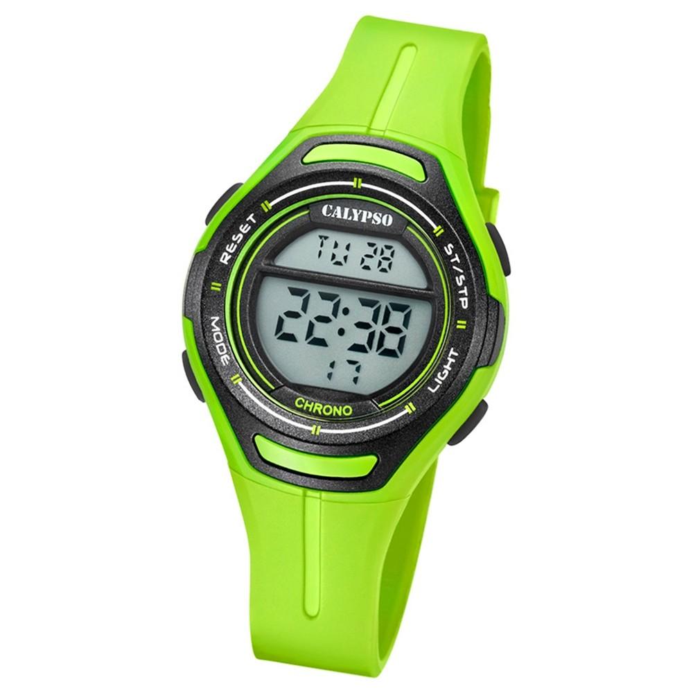 Calypso Armbanduhr Damen K5727/6 Quarzuhr PU grün UK5727/6