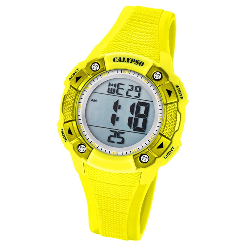 Calypso Armbanduhr Damen Digital for Woman K5728/1 Quarzuhr PU gelb UK5728/1