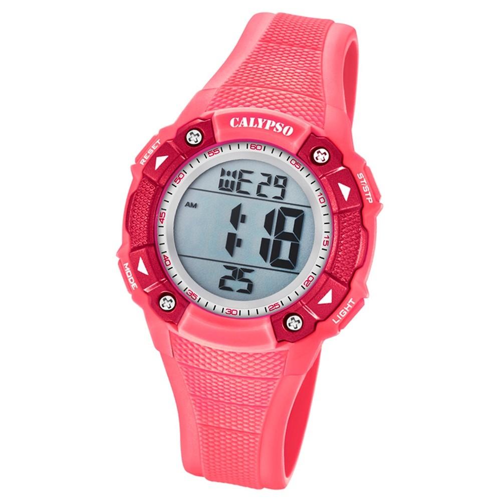 Calypso Armbanduhr Damen Digital for Woman K5728/2 Quarzuhr PU rosa UK5728/2