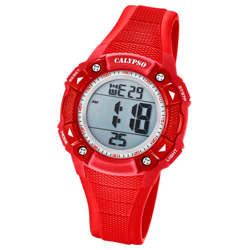 Calypso Armbanduhr Damen Digital for Woman K5728/3 Quarzuhr PU rot UK5728/3
