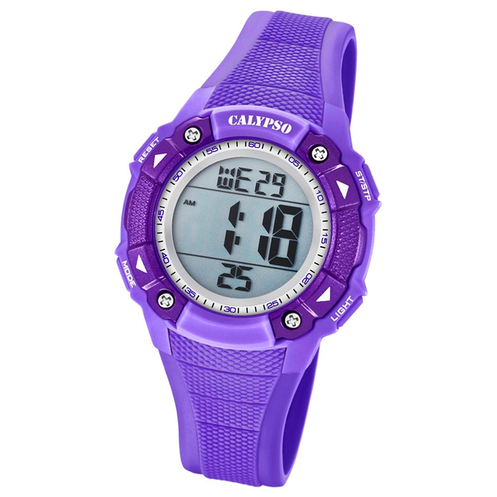 Calypso Armbanduhr Damen Digital for Woman K5728/5 Quarzuhr PU lila UK5728/5