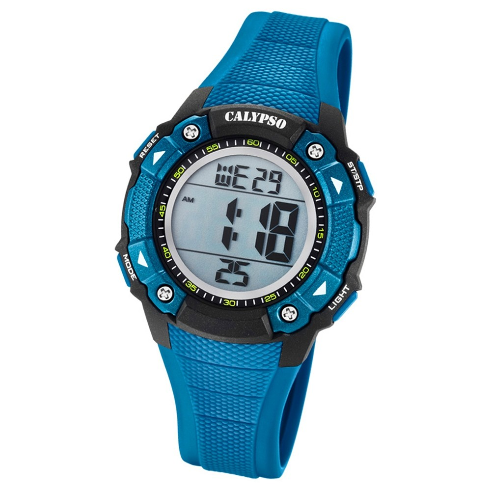 Calypso Armbanduhr Damen Digital for Woman K5728/6 Quarzuhr PU blau UK5728/6