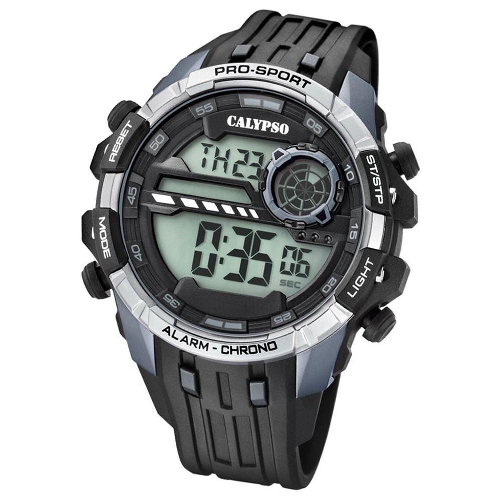 Calypso Armbanduhr Herren Digital for Man K5729/1 Quarz PU schwarz grau UK5729/1