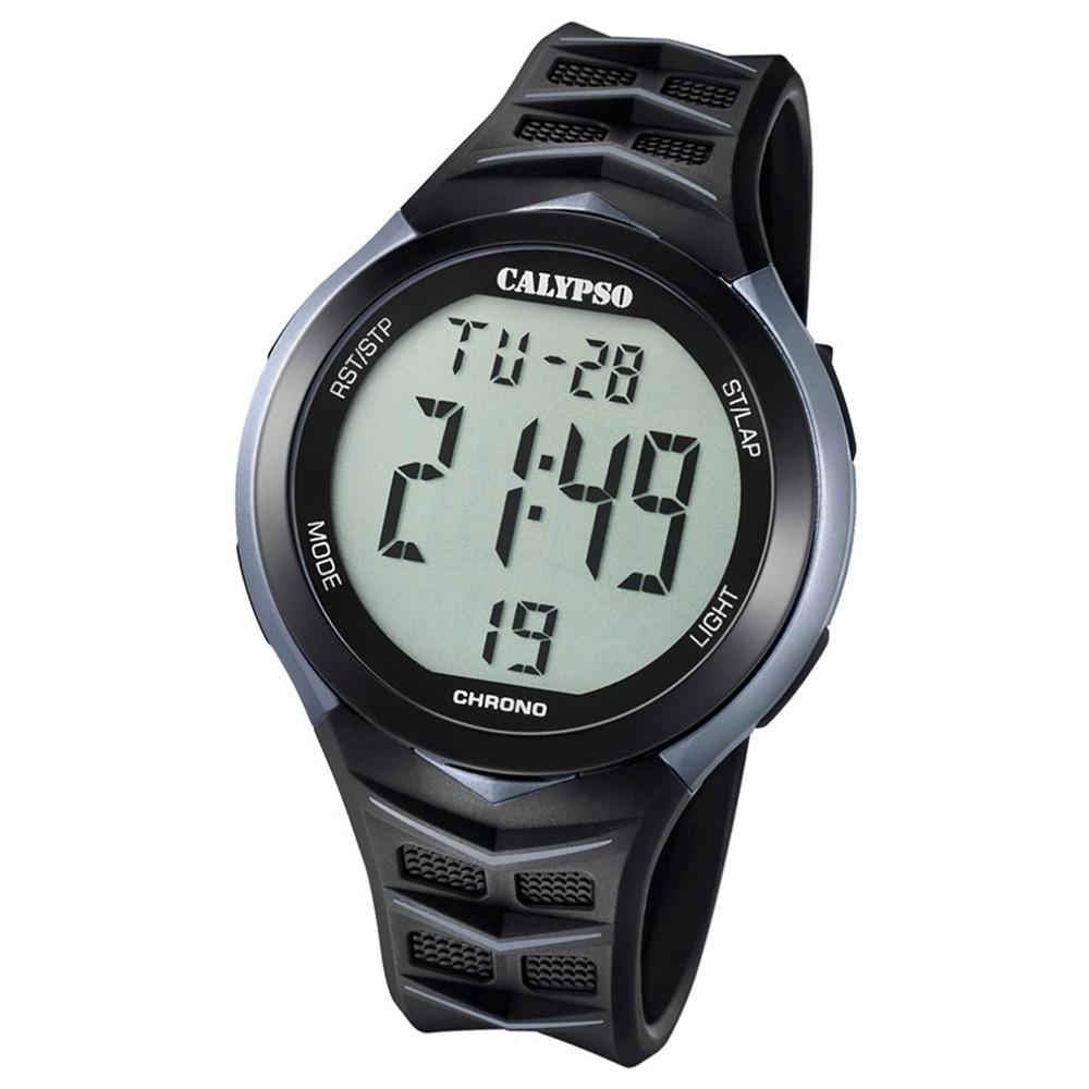 Calypso Armbanduhr Herren Digital for Man K5730/1 Quarz PU schwarz grau UK5730/1