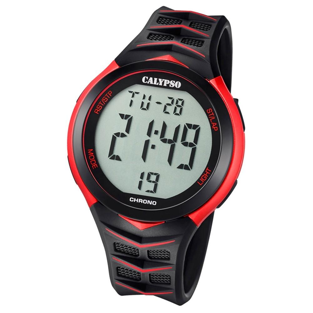 Calypso Armbanduhr Herren Digital for Man K5730/3 Quarz PU schwarz rot UK5730/3