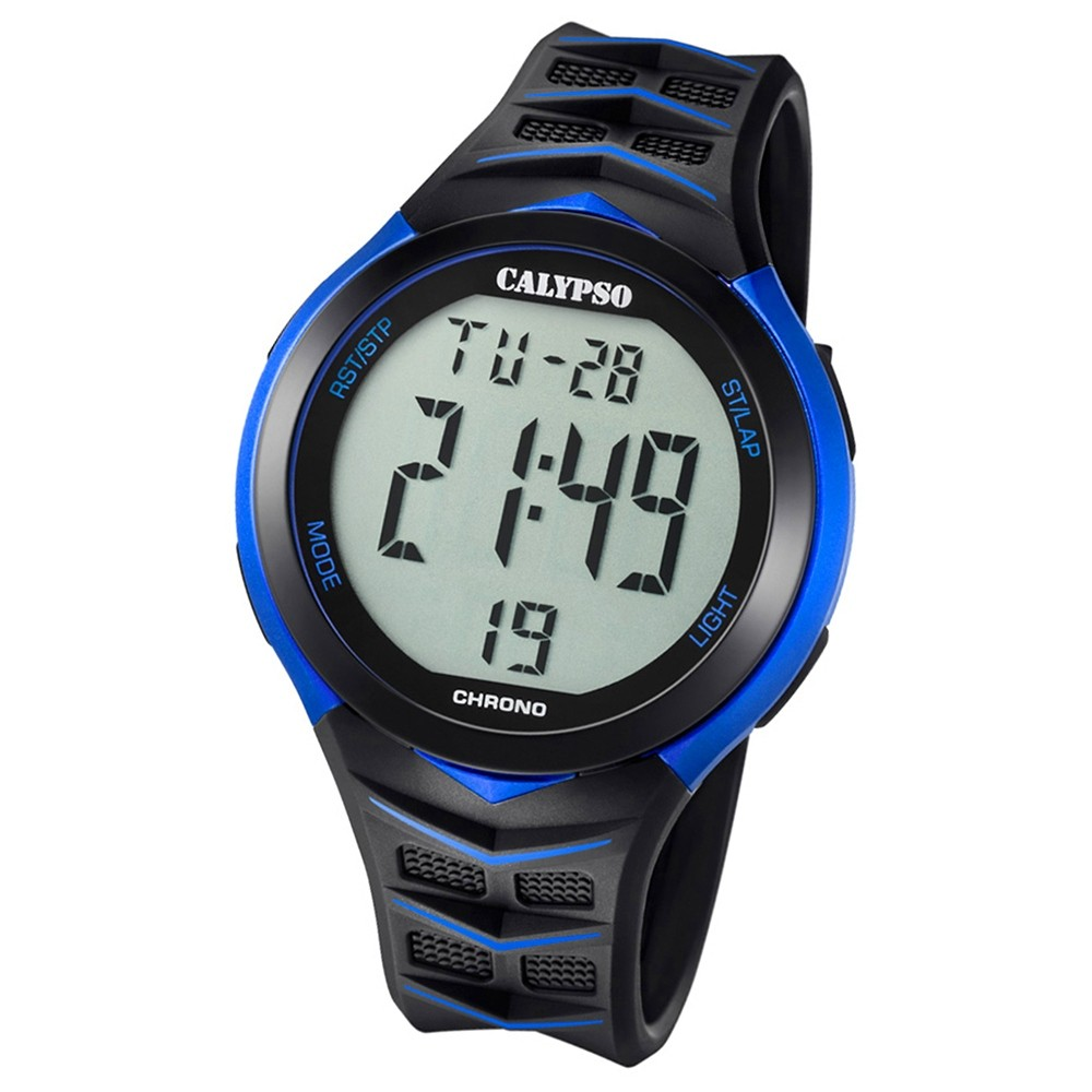 Calypso Armbanduhr Herren Digital for Man K5730/5 Quarz PU schwarz blau UK5730/5