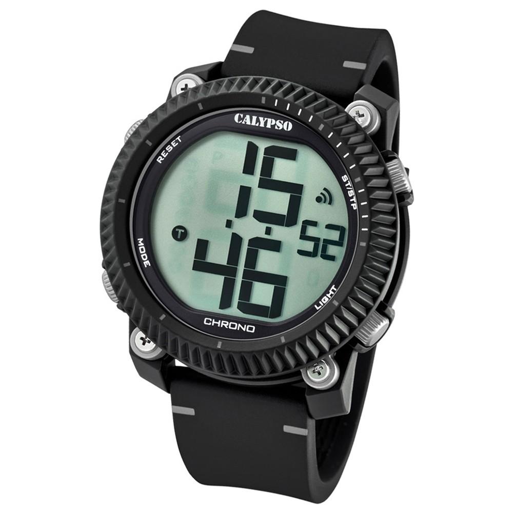 Calypso Armbanduhr Herren Digital for Man K5731/1 Quarz PU schwarz grau UK5731/1