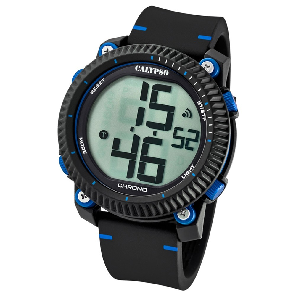 Calypso Armbanduhr Herren Digital for Man K5731/2 Quarz PU schwarz blau UK5731/2
