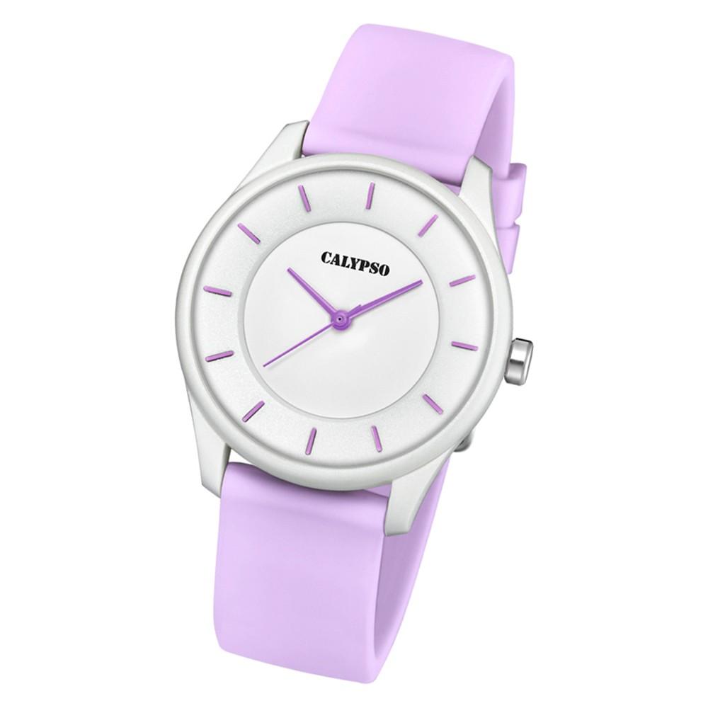 Calypso Damen Armbanduhr Sweet Time K5733/2 Quarz-Uhr PU helllila UK5733/2