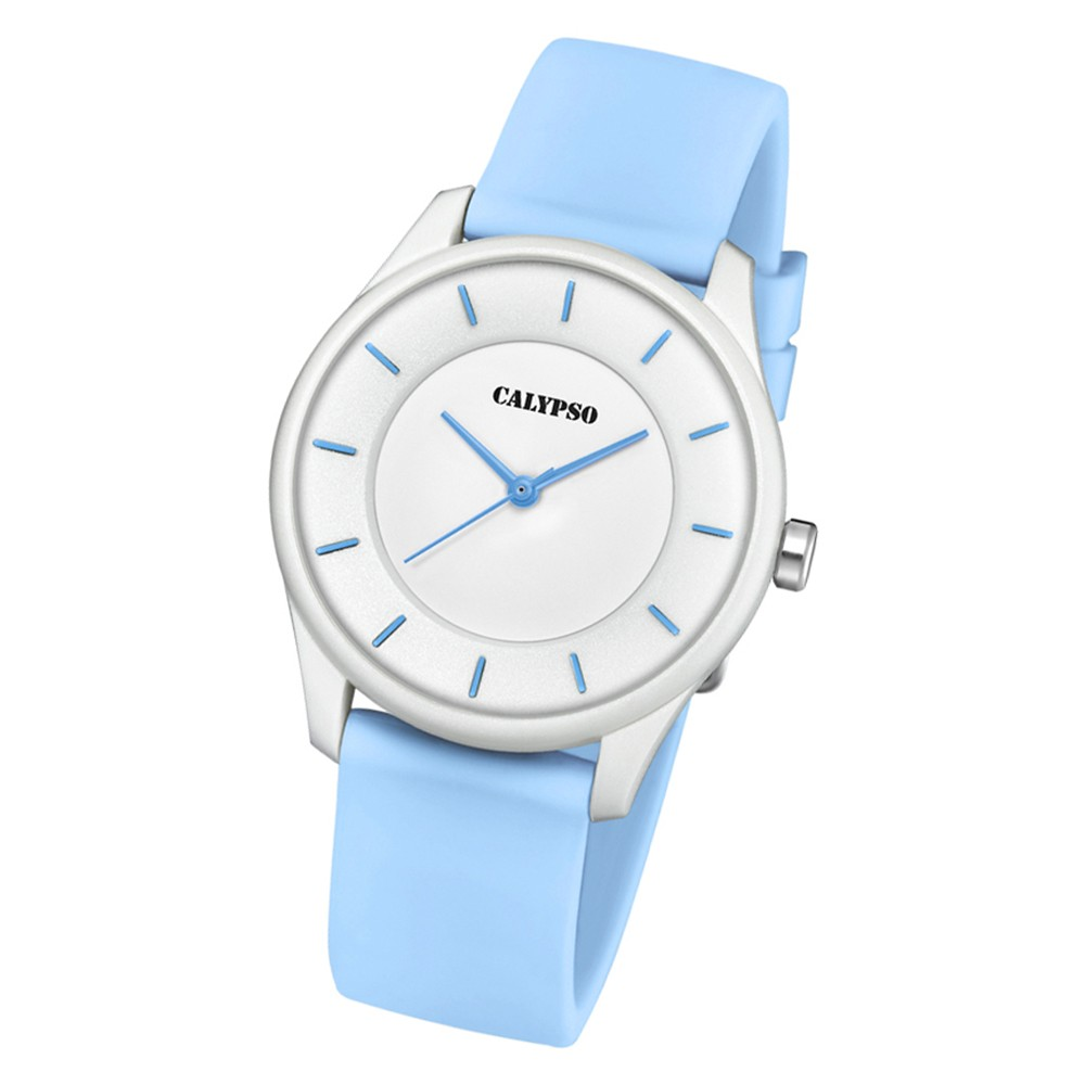 Calypso Damen Armbanduhr Sweet Time K5733/3 Quarz-Uhr PU hellblau UK5733/3