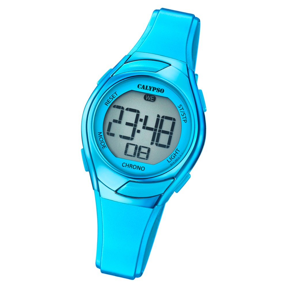 Calypso Kinder Armbanduhr Digital Crush K5738/6 Quarz-Uhr PU blau UK5738/6